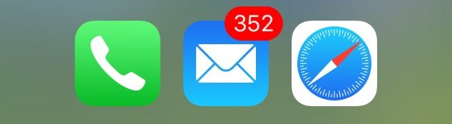 352 unread email icon