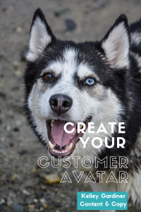 happy dog with mouth open, text overlay